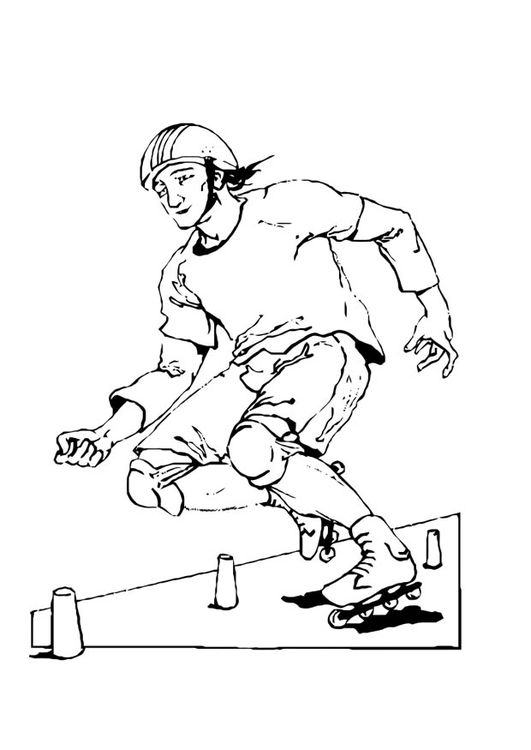 Coloring page rollerblading