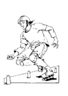 Coloring pages rollerblading