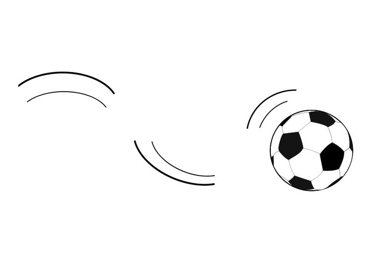 Coloring page rolling ball