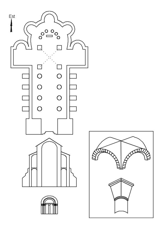 Coloring page roman church