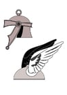 Coloring pages Roman helmet
