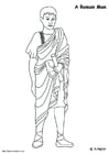 Coloring pages Roman man