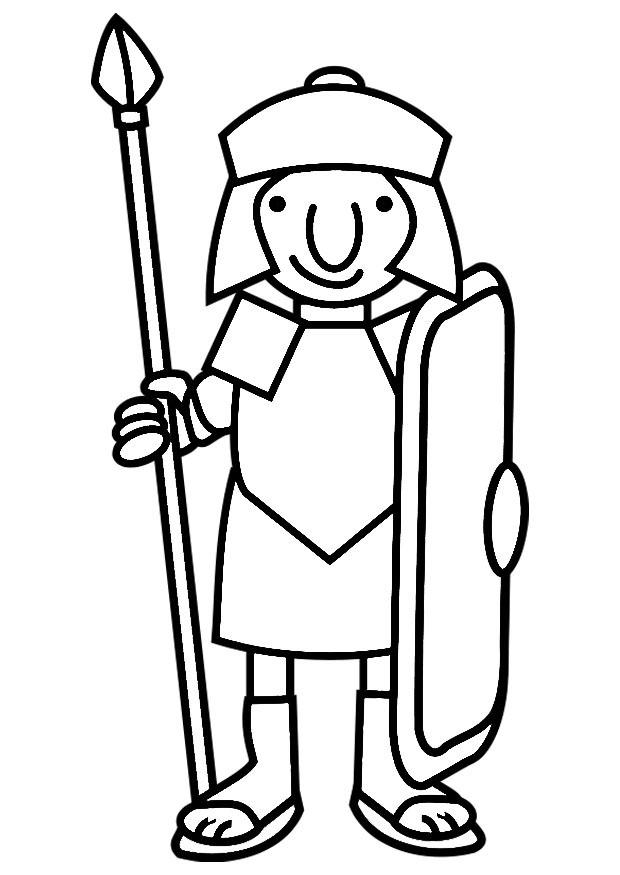 Coloring page Roman soldier img 19795