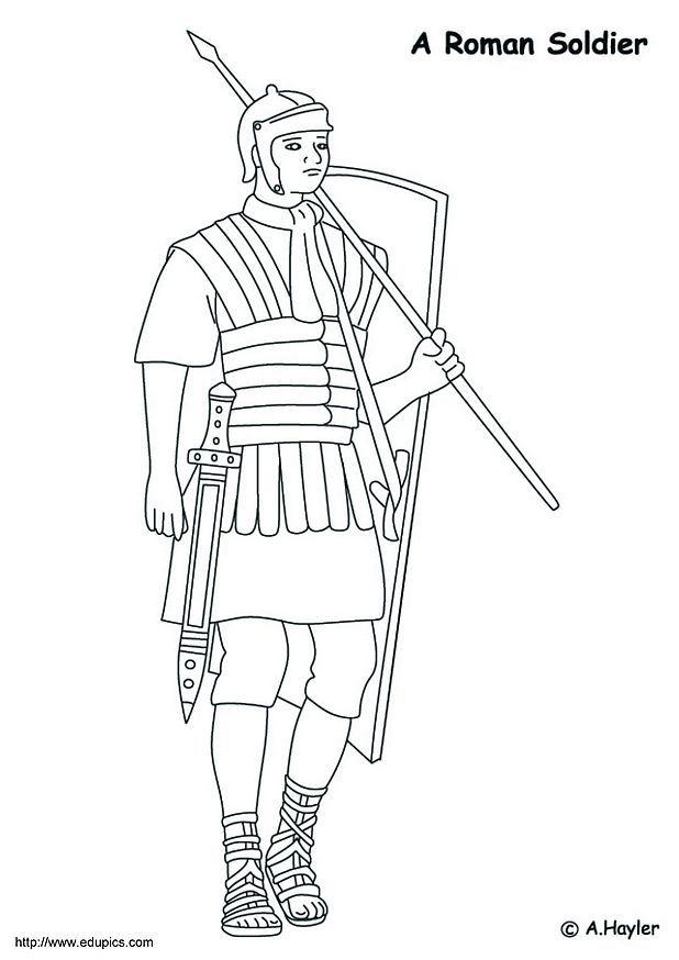 Coloring page Roman soldier - img 4186.