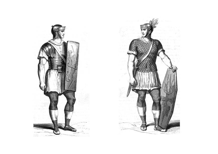 Coloring page Roman soldier