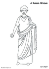 Coloring pages Roman woman