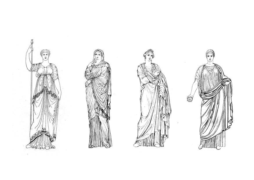 Coloring Page Roman Women Img 9425