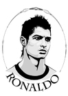 Coloring pages Ronaldo