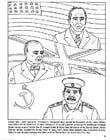 Coloring pages Roosevelt, Churchull, Stalin