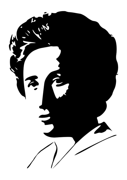 Coloring page Rosa Luxemburg