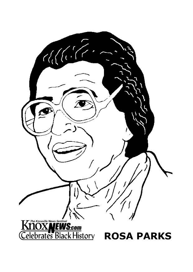 Coloring Page Rosa Parks - free printable coloring pages