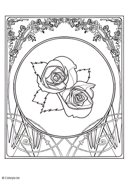 Coloring page roses