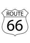 Coloring page route 66