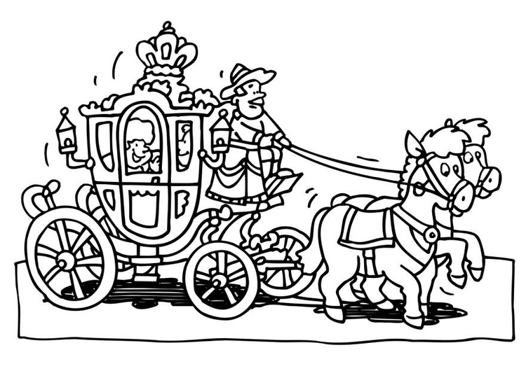 Coloring page royal carriage img 18779