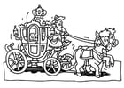 Coloring page royal carriage