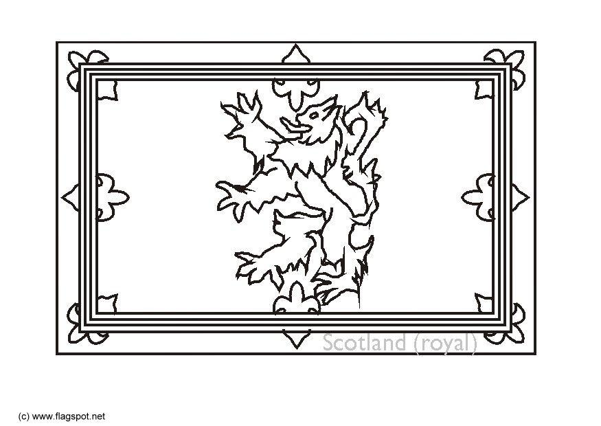 Coloring page royal flag scotland img 6152 for Scotland coloring pages