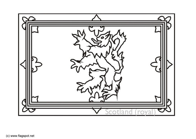 Coloring page Royal flag Scotland