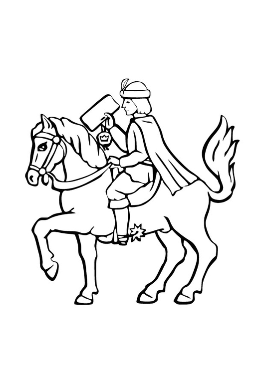 Coloring page royal messenger