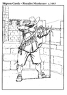 Coloring page Royalist musketeer