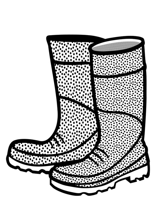 Coloring page rubber boots