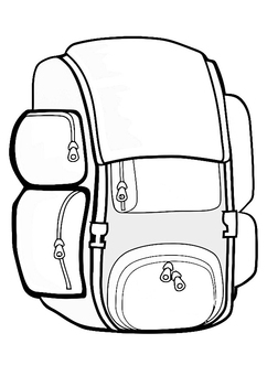 Coloring page rucksack