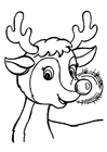 Coloring page Rudolph's Glow