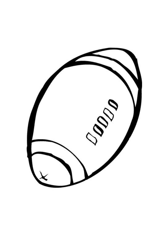 Coloring page rugby ball