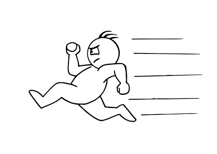 coloring page running - Flash Running Coloring Pages