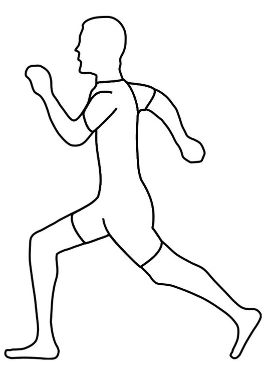 Coloring page running