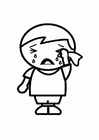 Coloring pages sad