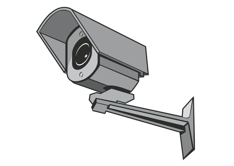 Coloring page safety camera