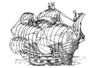Coloring pages sail boat