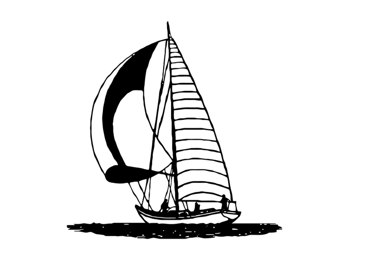 Coloring Page Sailboat - Free Printable Coloring Pages - Img 11372