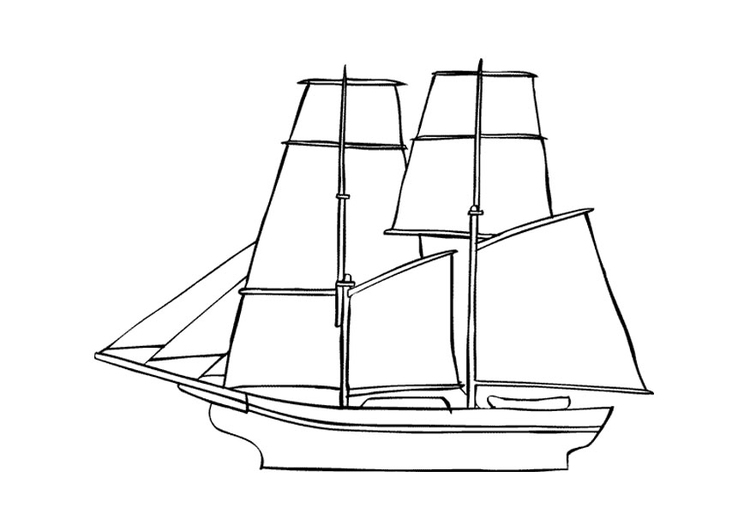 Coloring Page Sailboat - Free Printable Coloring Pages - Img 9675