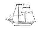 Coloring pages sailboat