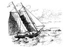 Coloring page sailing boat