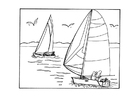 Coloring pages sailing
