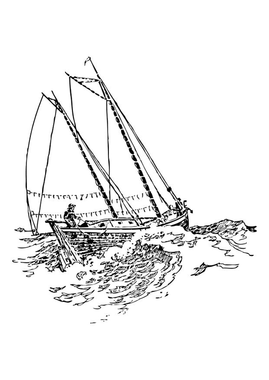 Sailing Ship Coloring Pages | Realistic Coloring Pages | 750x531