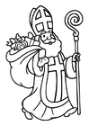 Coloring pages Saint Nicholas