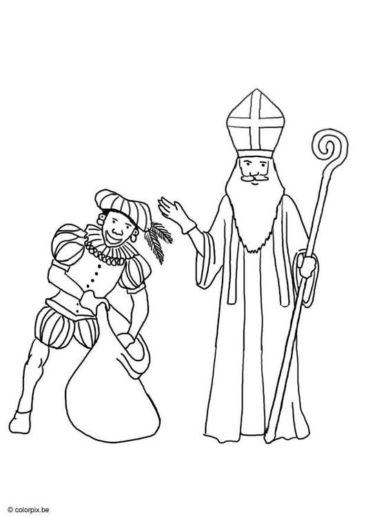 Saint Nicolas and Black Peter