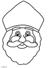 Coloring pages Saint Nicolas