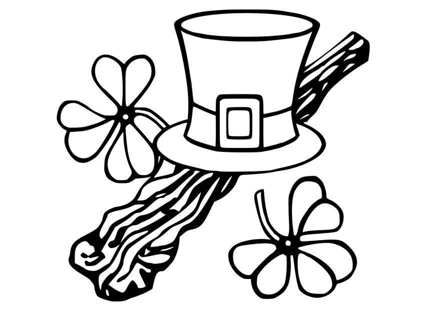 Excepcional St Patrick Para Colorear Religioso Molde - Páginas Para ...