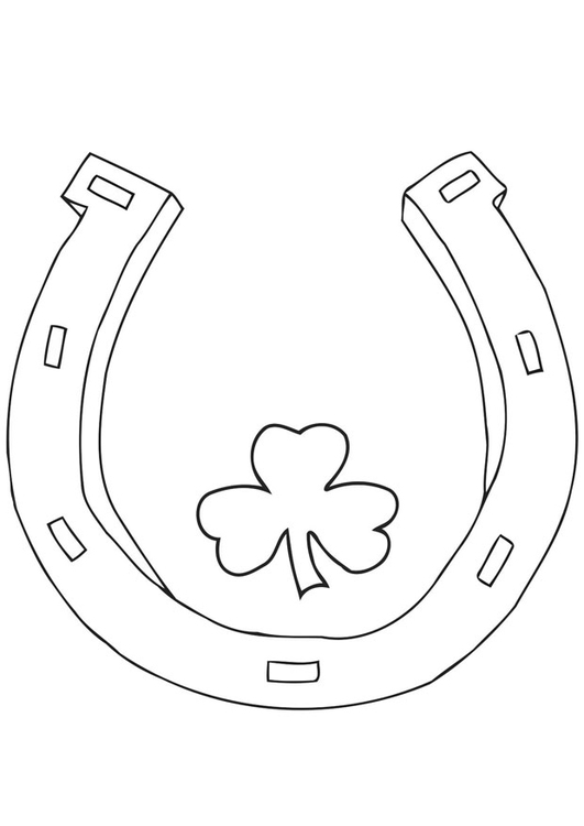 Horseshoe – Coloring Page | 750x531