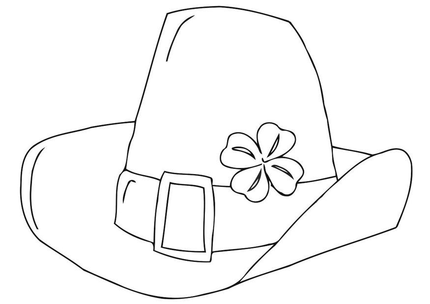Coloring page Saint Patrick\'s Day hat - img 21707.