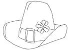 Coloring pages Saint Patrick's Day hat