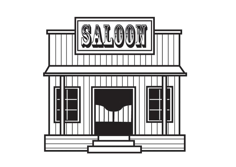 Coloring page saloon