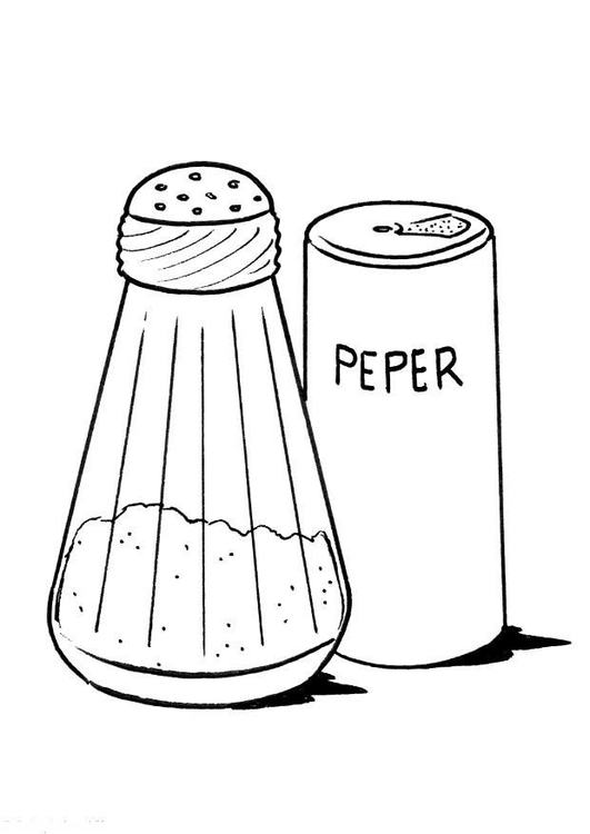 Coloring page salt and pepper