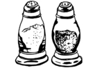 Coloring page salt and pepper shakers