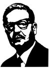 Coloring pages Salvador Allende