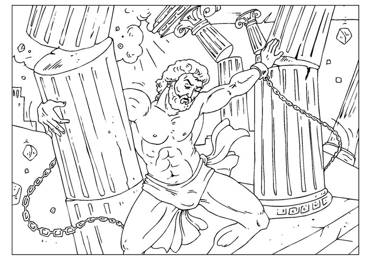 Coloring Page Samson